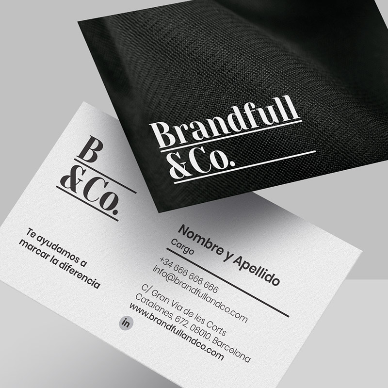 diseno de tarjeta comercial barcelona - Creación de elementos corporativos