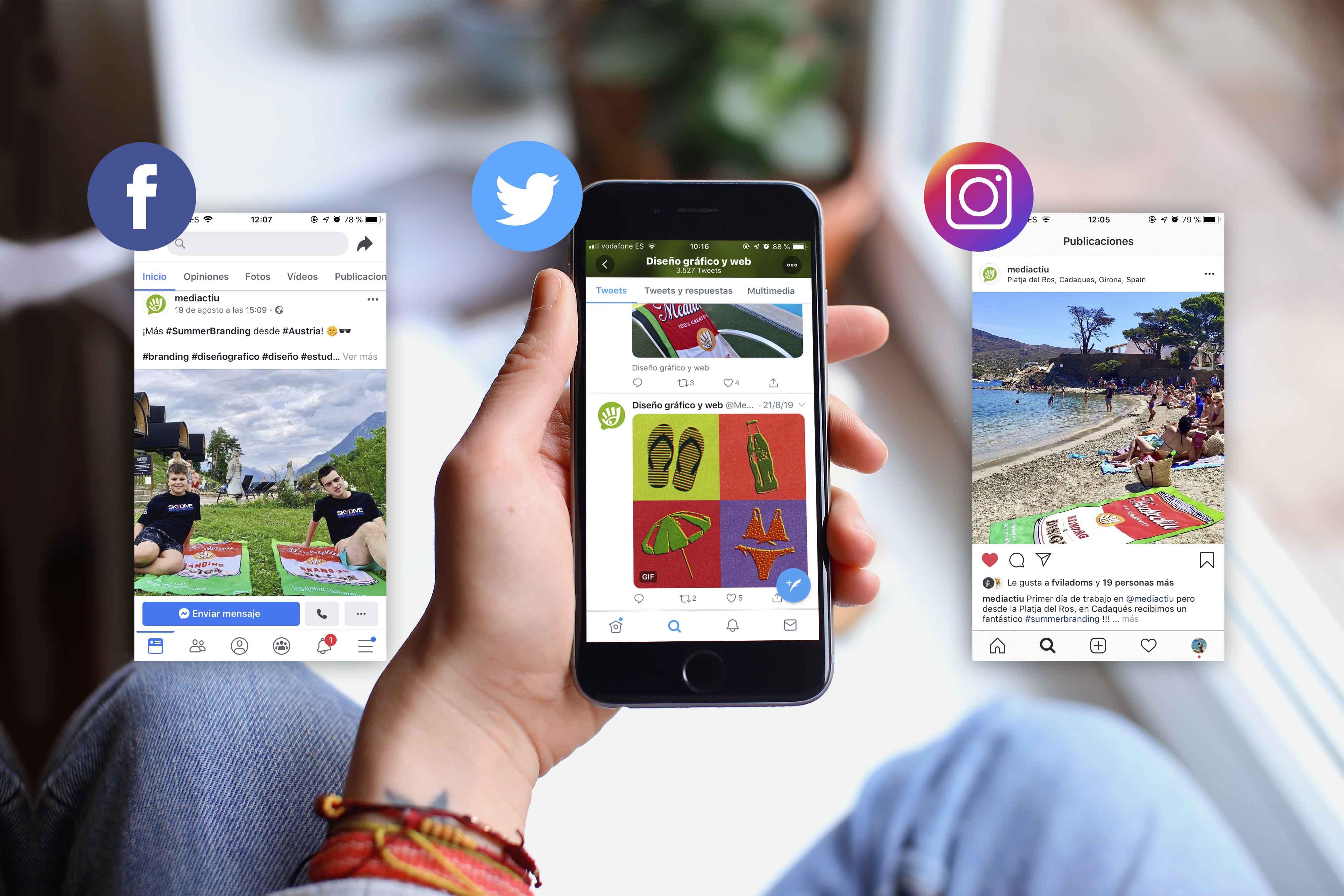 Campana en redes sociales - #Summerbranding, el deseo de Mediactiu para clientes y amigos