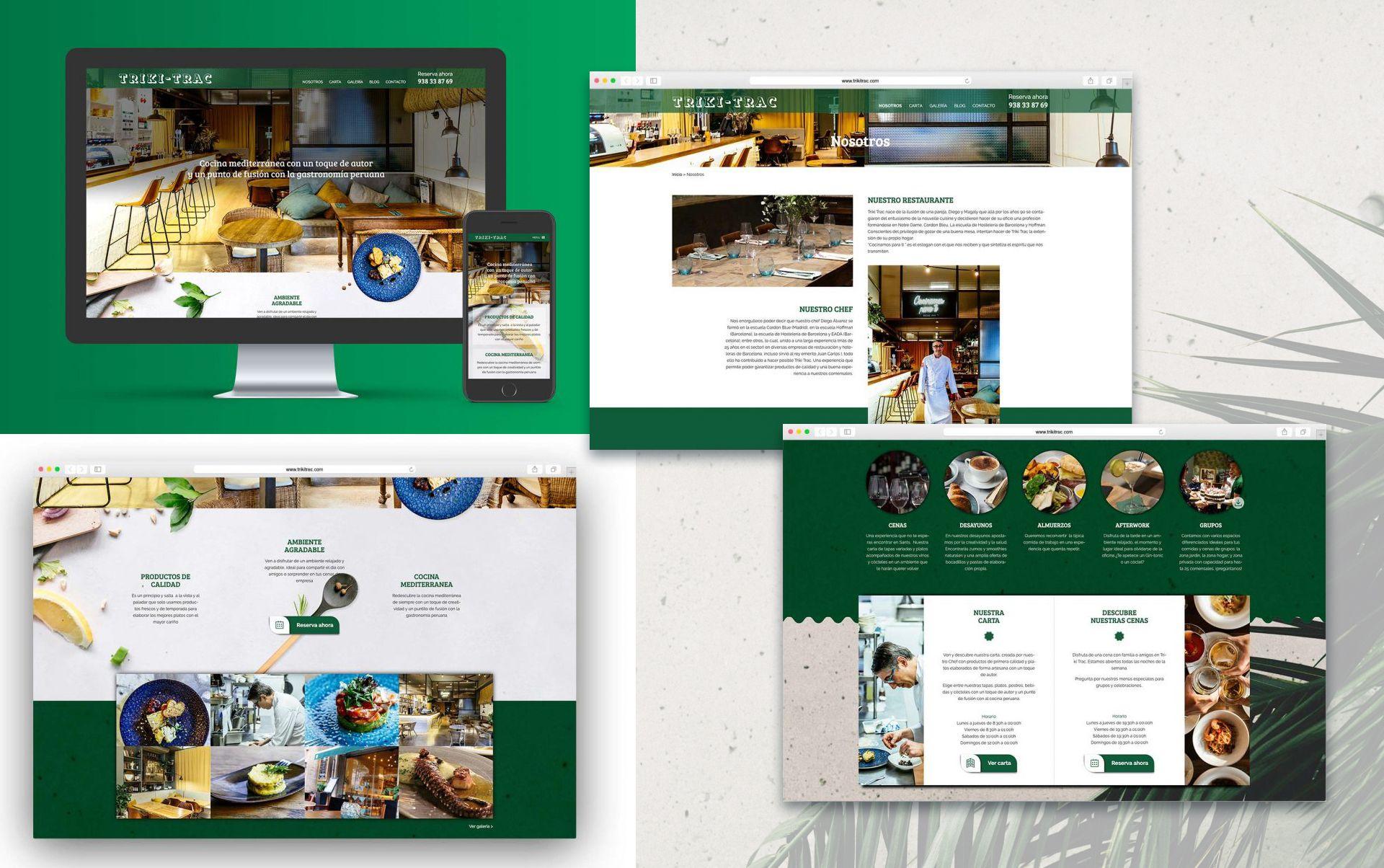 Restaurante barcelona web - Diseño web restaurante de Barcelona
