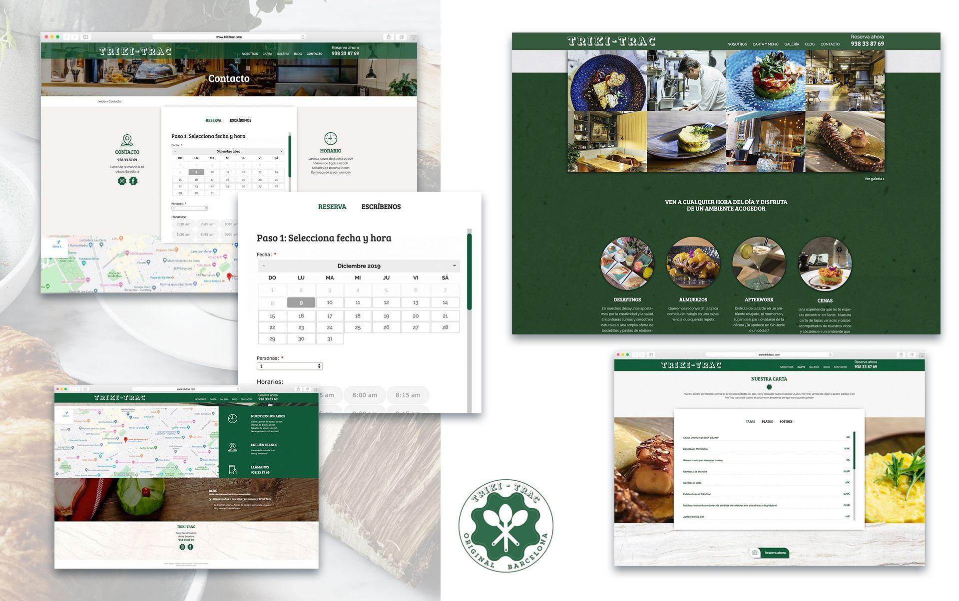 diseno web profesional para restaurante - Diseño web restaurante de Barcelona