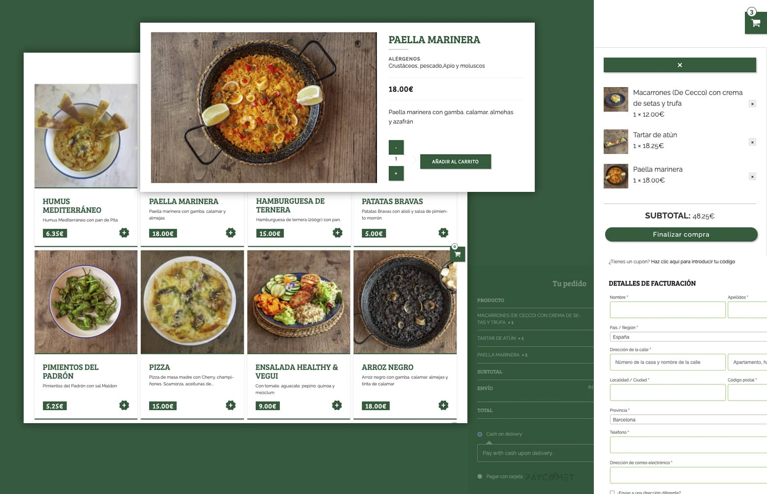 ecommerce restaurante - Diseño web restaurante de Barcelona