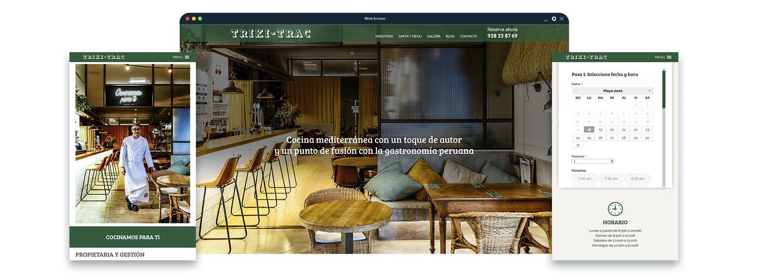 reserva restaurante barcelona - Diseño web restaurante de Barcelona
