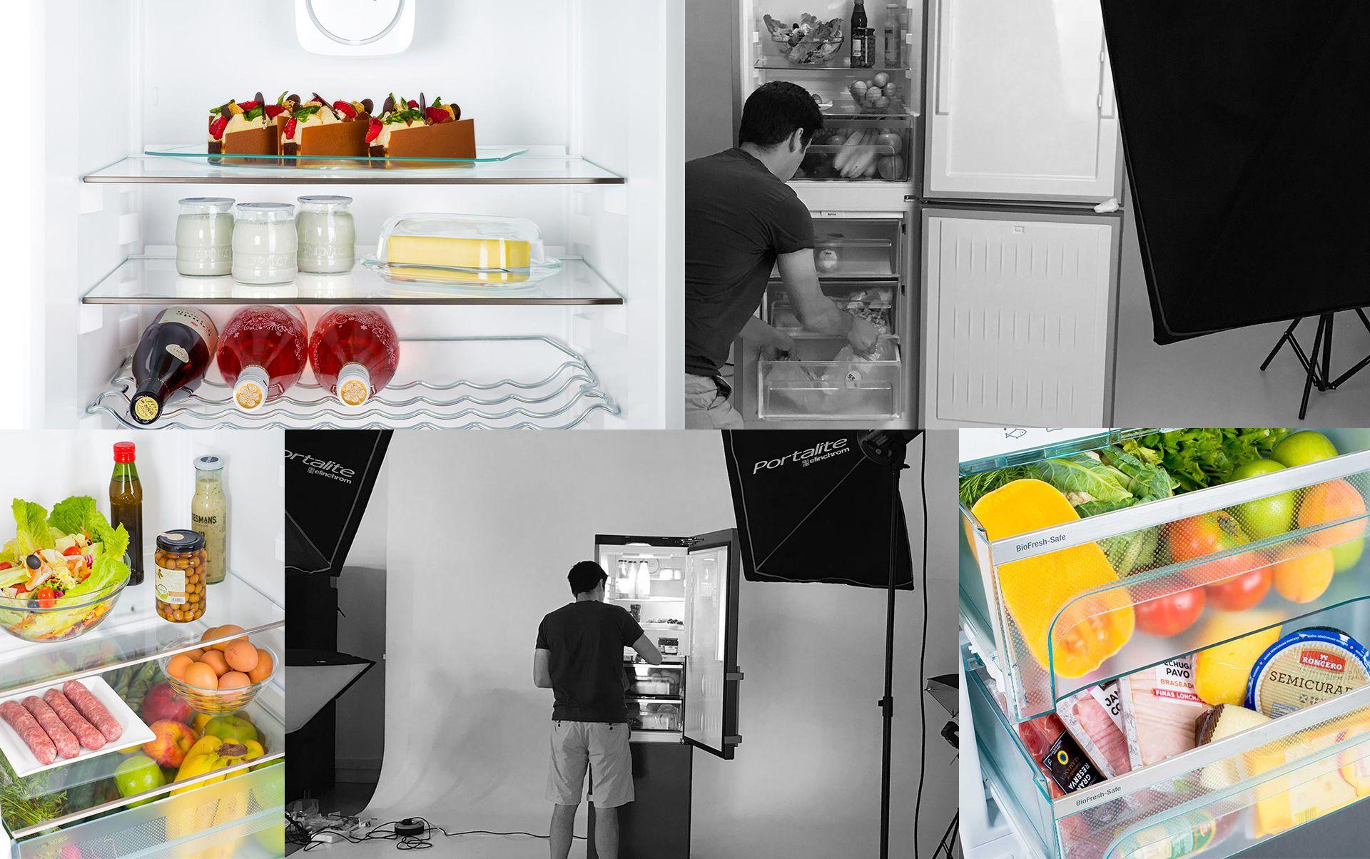 Interior neveras sesio fotografica - Sesión fotográfica de electrodomésticos