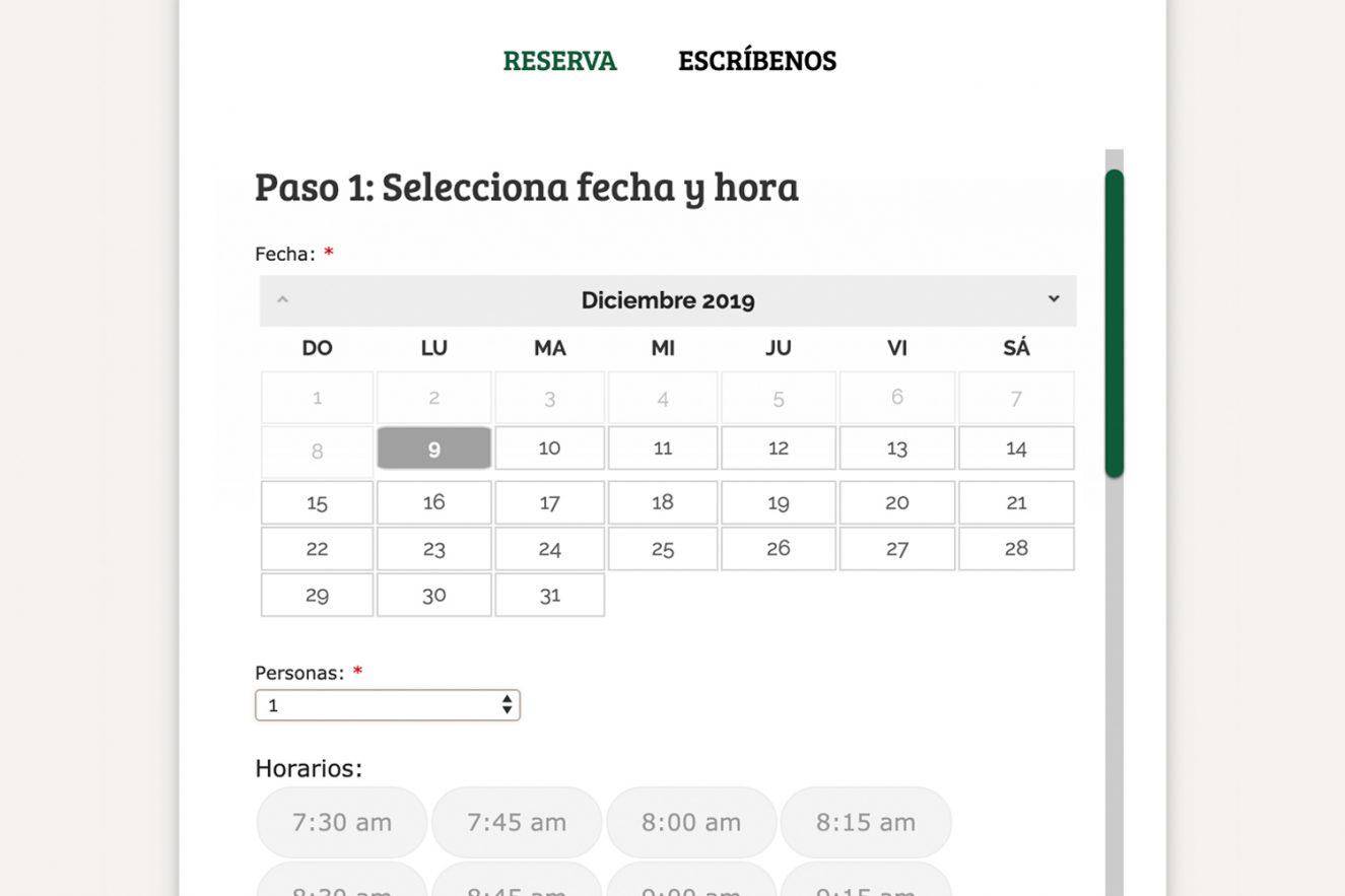 creacion gestor de reservas barcelona 1325x883 - Diseño web restaurante de Barcelona