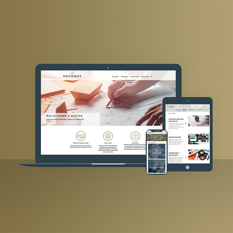 diseno web empresa packaging - Web para fabricante de packaging