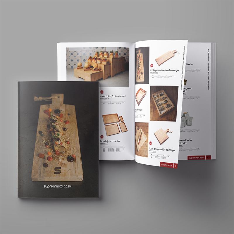 diseno catalogo de productos horeca - Modificación exprés de un catálogo general de producto