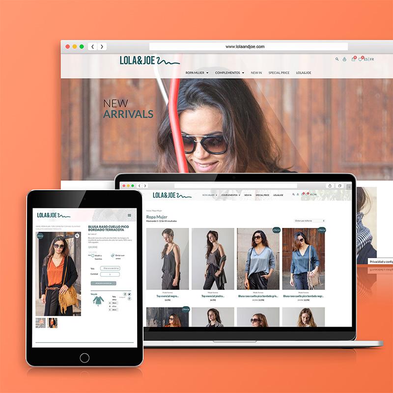 diseno de web para marca de moda - Diseño de tienda online para sector textil