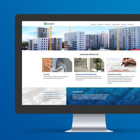 diseno web cajaislant 550x550 - Diseño de página web