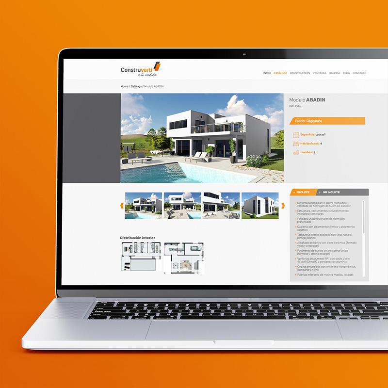 diseno de web empresa construccion - Diseño y programación de website