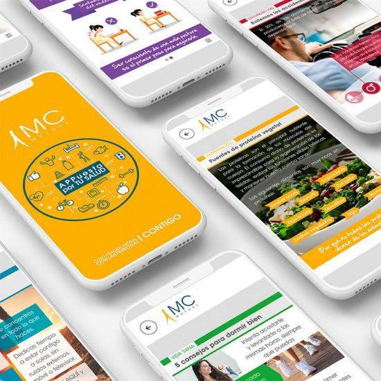 diseno de app para empresa 550x550 - Diseño de interfaz para app
