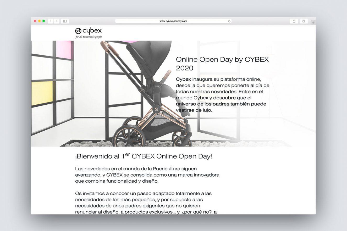 creacion de landing page para cybex 1325x883 - Evento on-line de presentación de producto