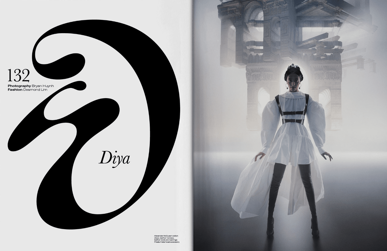 Pagina Vogue tipografia Oversized - 10 tendencias en diseño gráfico para un año muy esperado. ¡Bienvenido 2021!