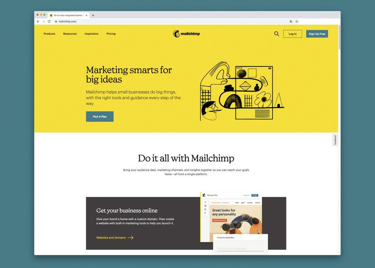 Pagina web uso tipografias serif 1237x883 - 10 tendencias en diseño gráfico para un año muy esperado. ¡Bienvenido 2021!