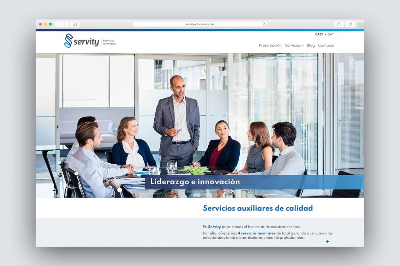 diseno de web para empresa de servicios