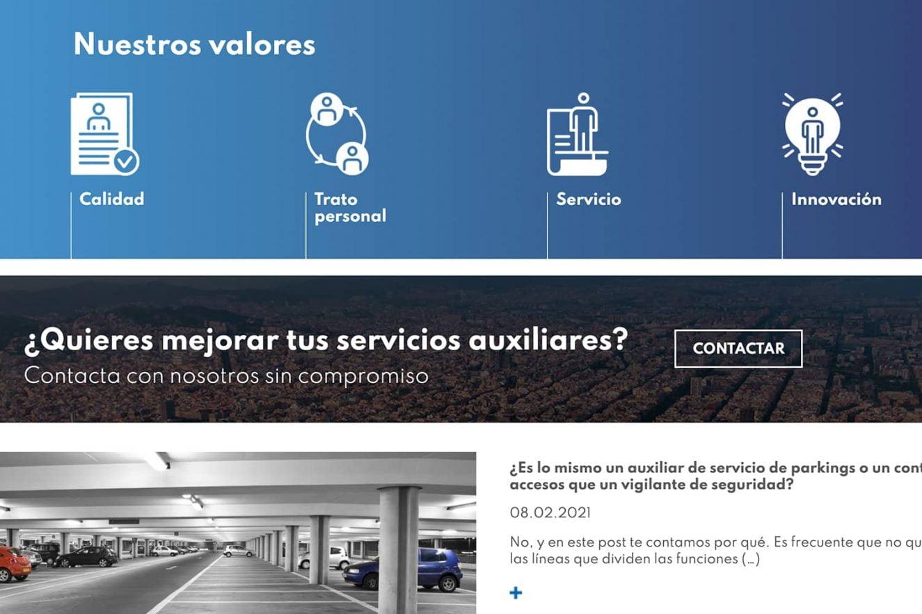 diseno web sector servicios barcelona