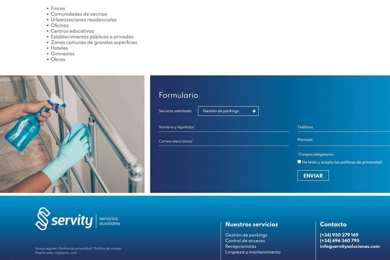 maquetacion web sector servicios