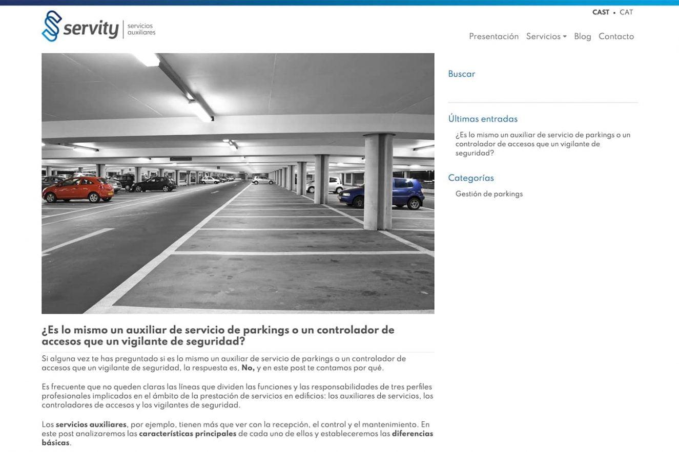 web para empresa de servicios auxiliares