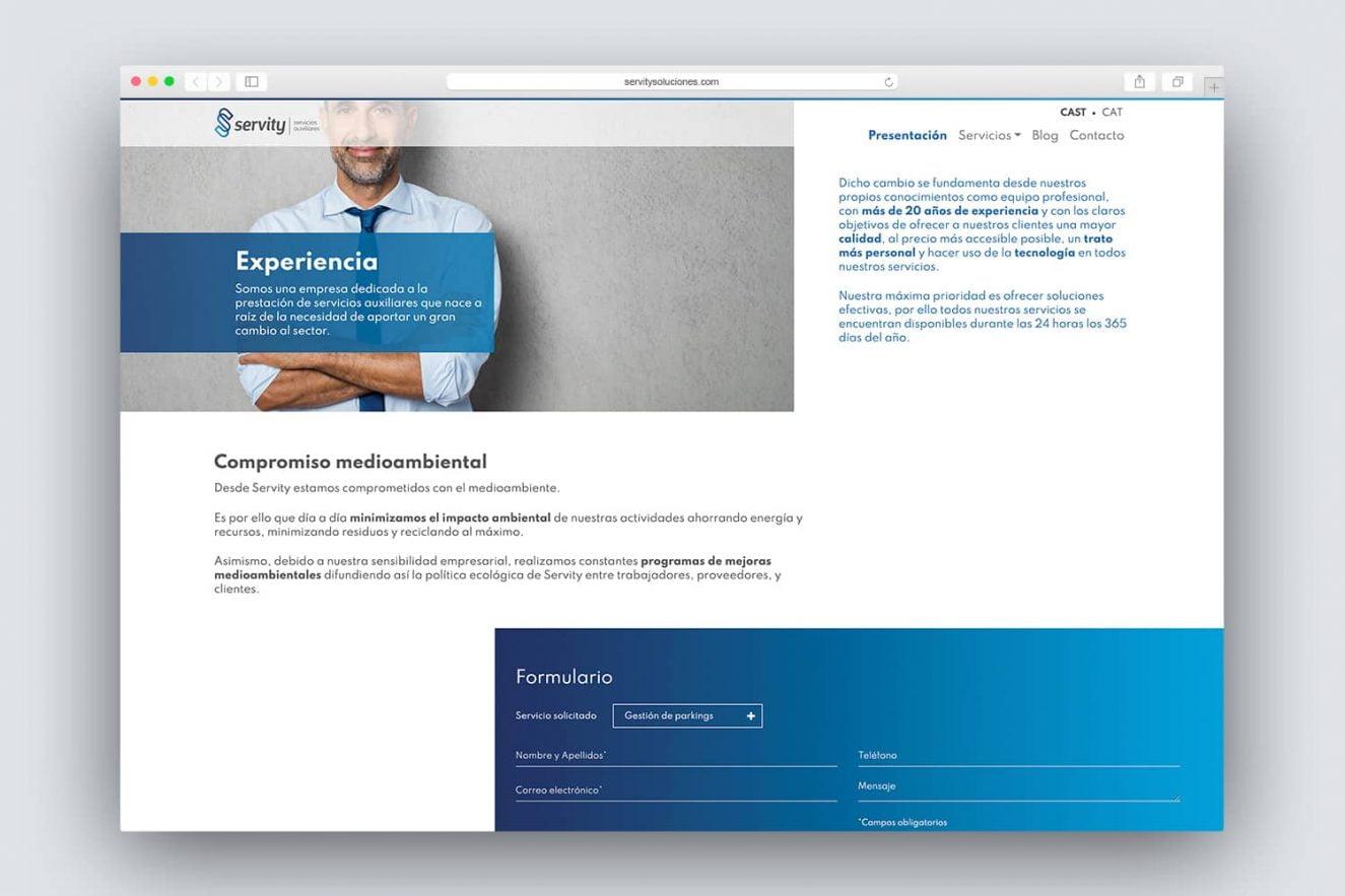website corporativa para empresa de servicios