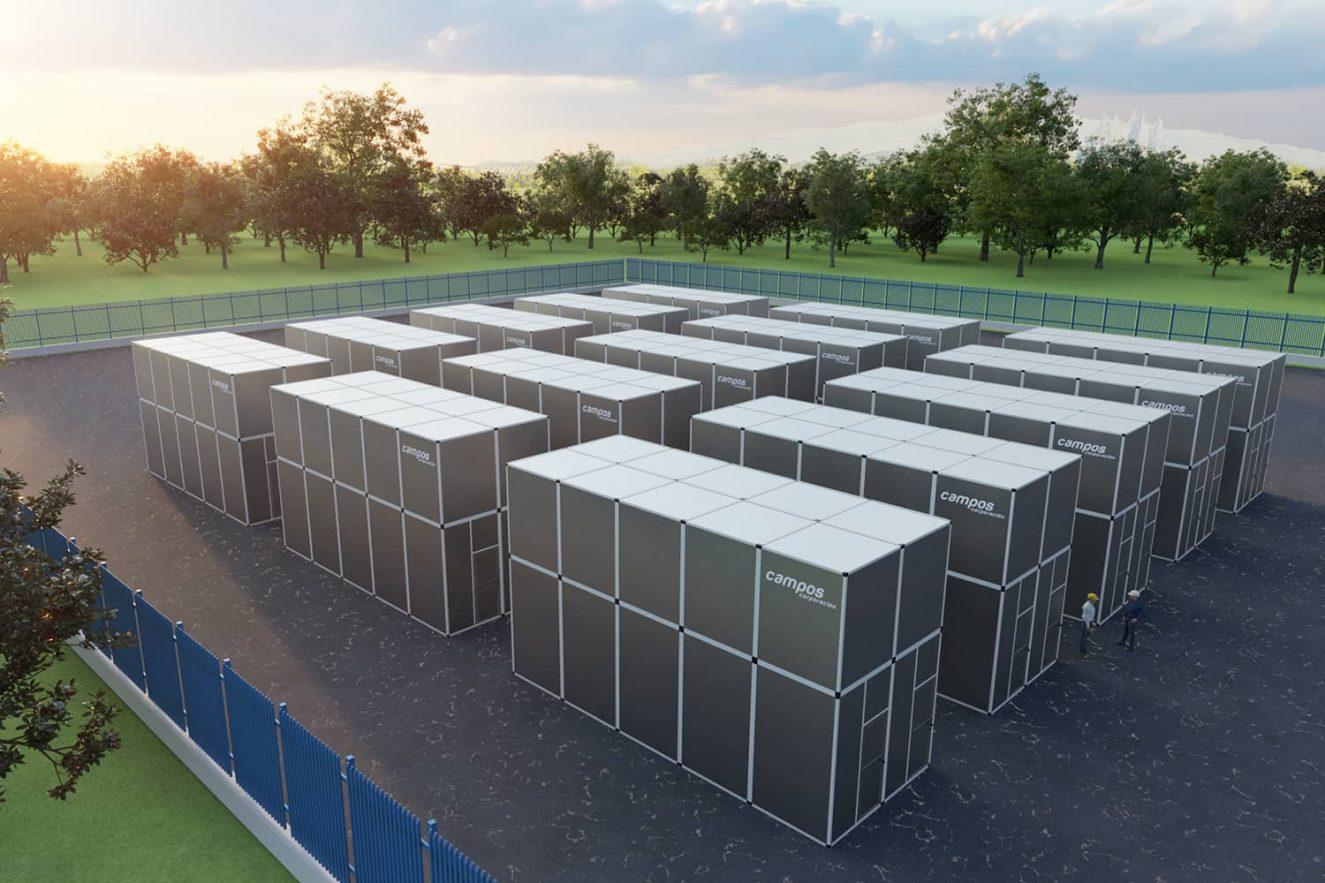 renderizado 3D de centro de datos