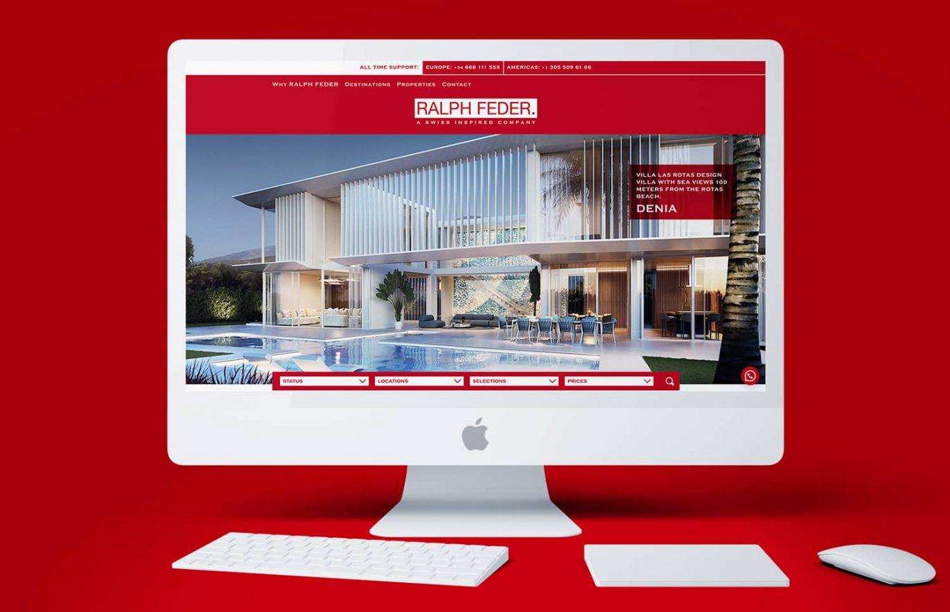 creacion de pagina web de venta de casas de lujo barcelona