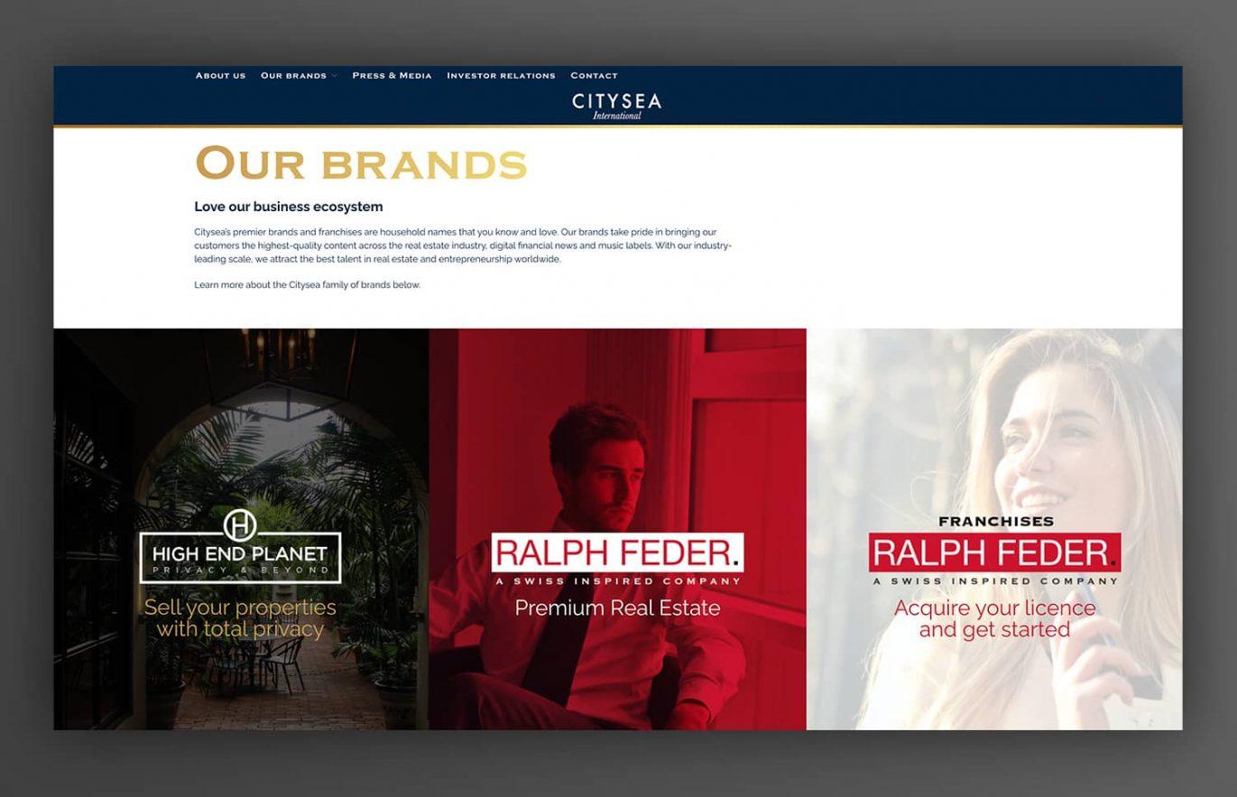 creacion de pagina web para inmobiliaria lujo