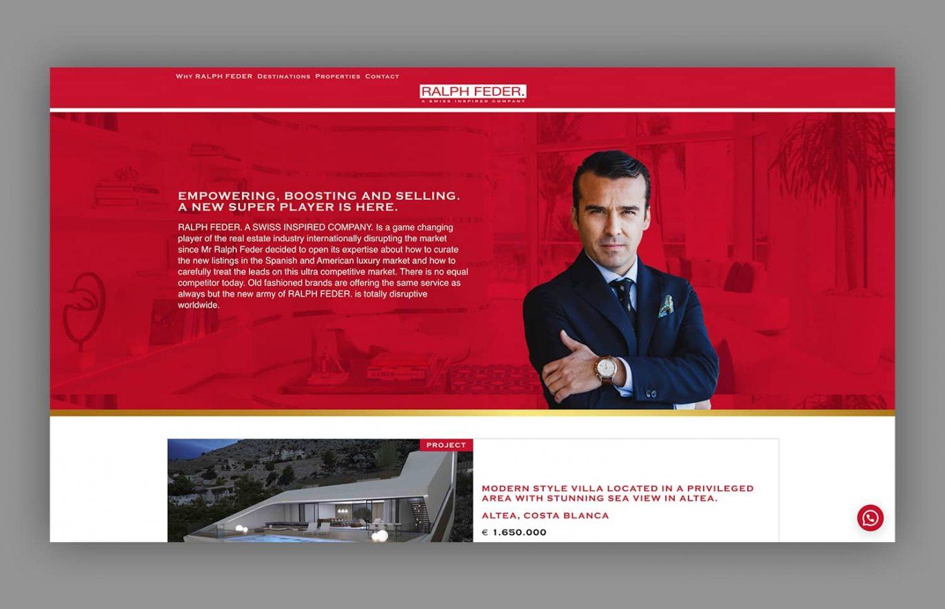 creacion de pagina web venta de casas
