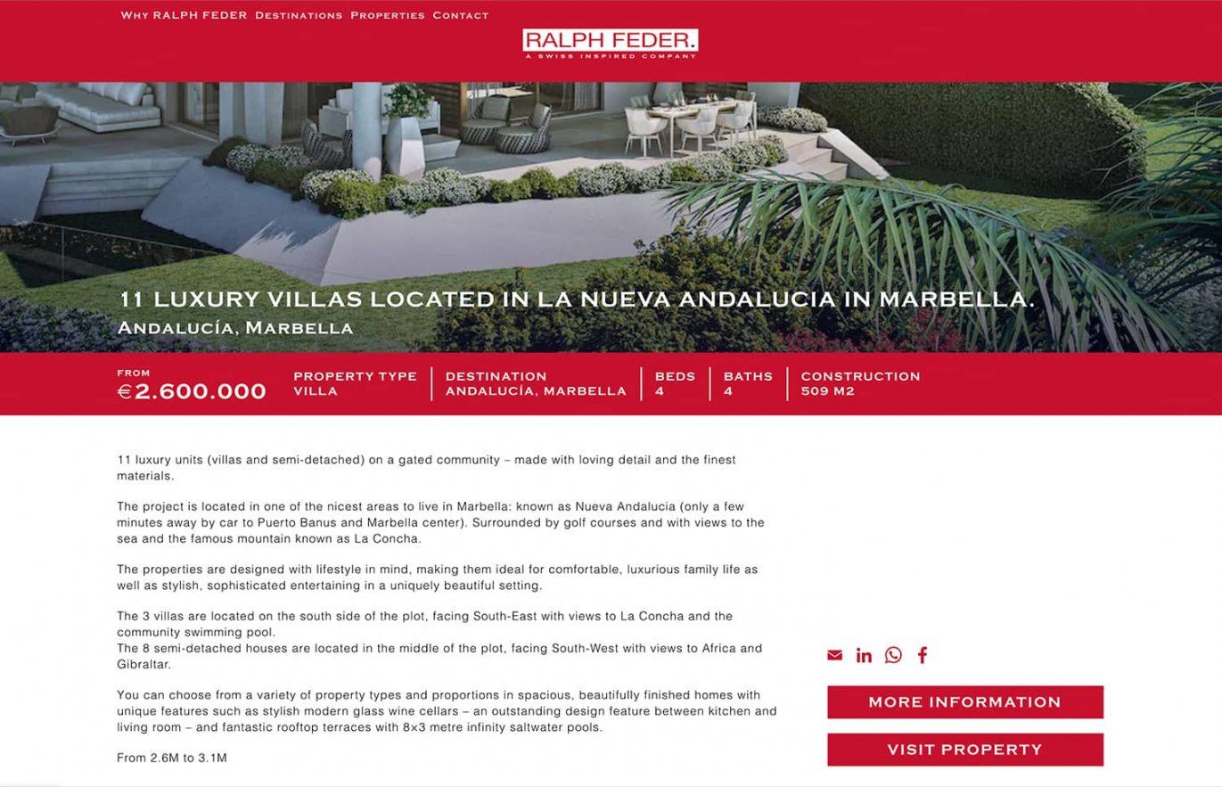 creacion de web venta casas
